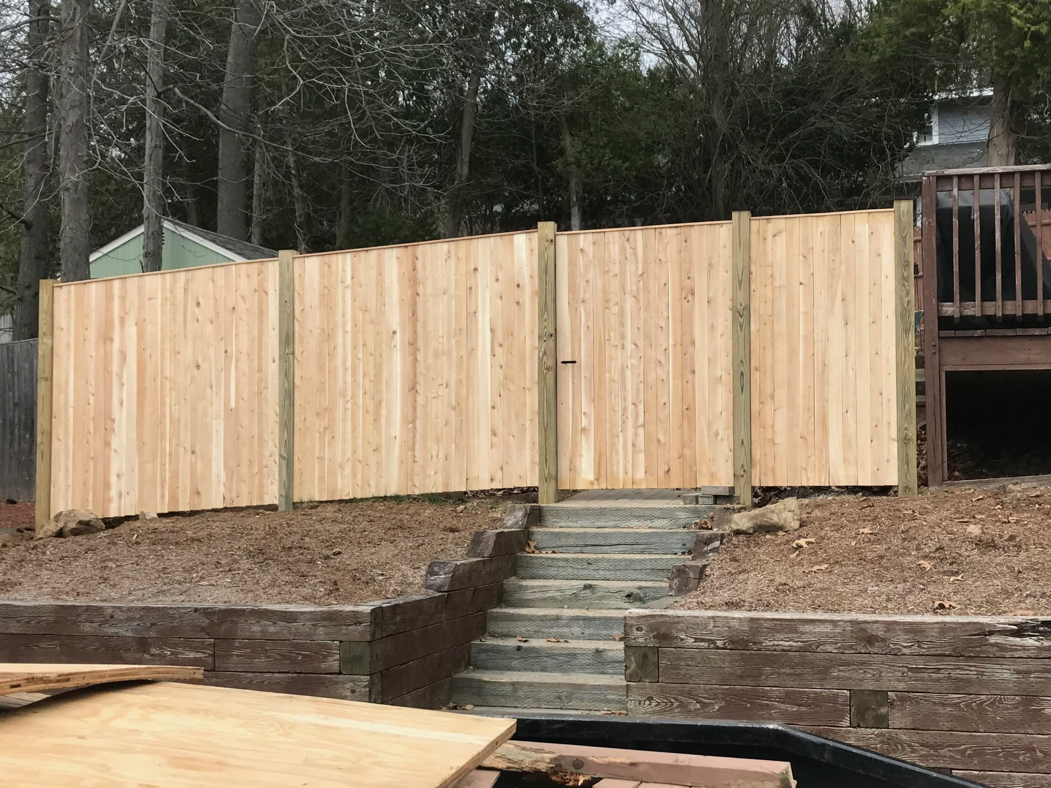 Wooden Deck Fence